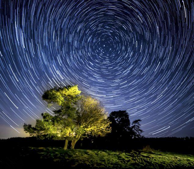 Stargazing dark is the night