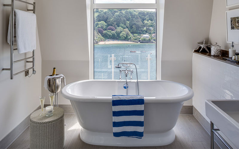 Bathroom at Salcombe Harbour Hotel & Spa