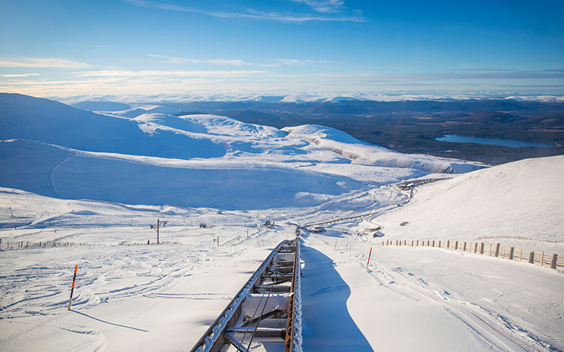 Views from the Cairngorm Mountain Resort
