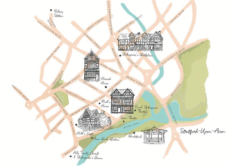 Stratford-Upon-Avon Map